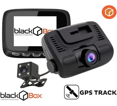 câmera veicular black box gp5 dual + gps - até 128gb