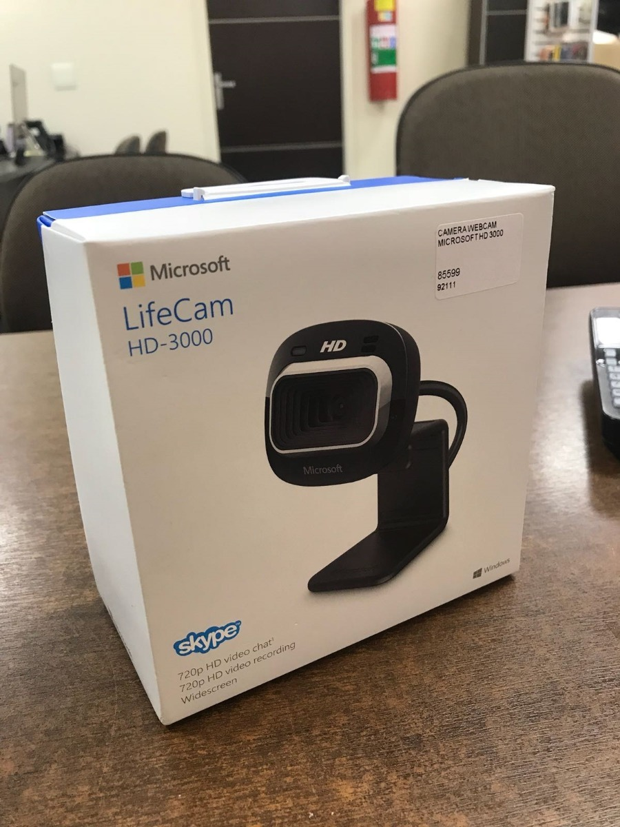 Câmera Webcam Microsoft Lifecam Hd3000 1mp Hd 720p - Preto