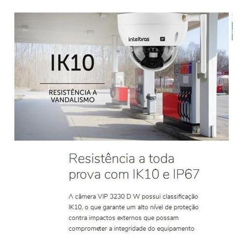 câmera wifi ip intelbras vip 3230 d w full hd microsd