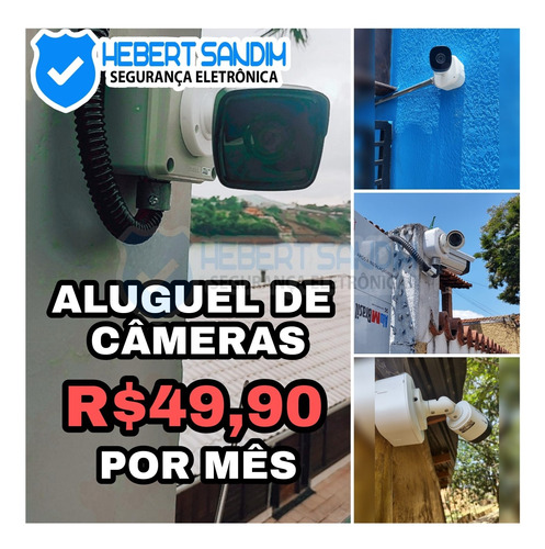 câmeras de seguranca eletrônica instalação e aluguel
