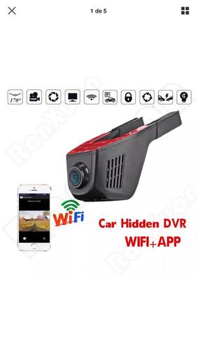 câmeras dvr para carro visão noturna 1080p  wi-fi sd 32gb