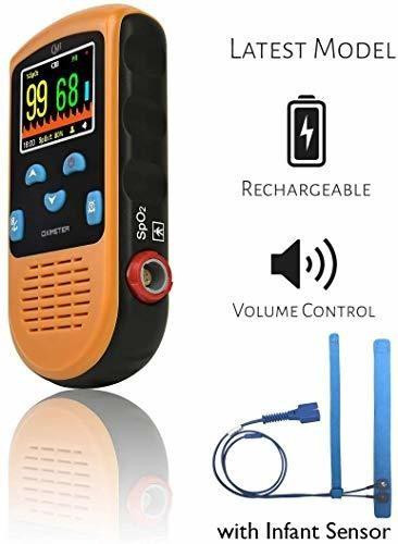 cmi health oxímetro de pulso recargable  monitoreo continuo