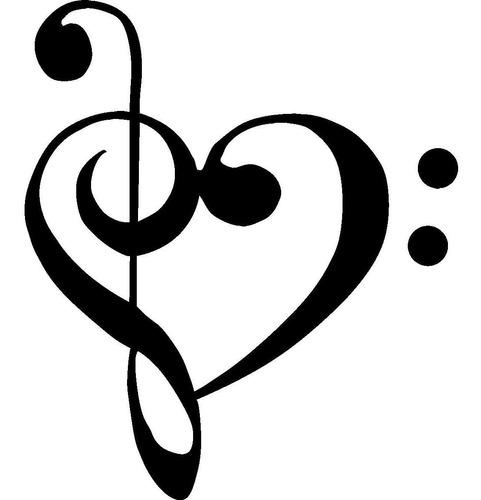 cmi210 treble clef bajo del amor del corazón de la música