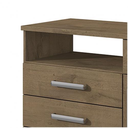 cômoda 1 porta 5 gavetas da vinci móveis lopas dg