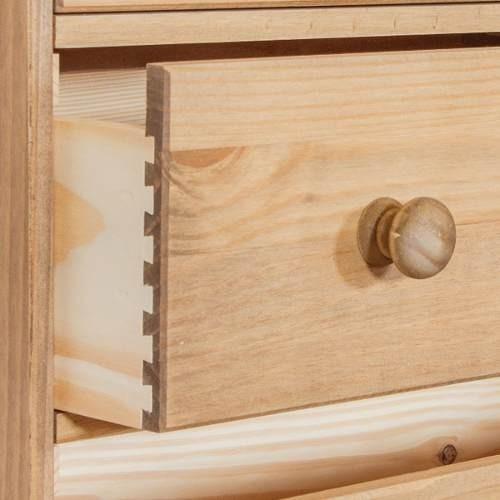 cômoda gaveteiro, madeira maciça, cera antique ct316