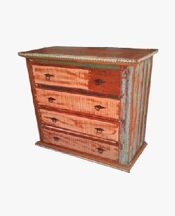 cômoda rústica, madeira de demolição, peroba, 1,00m p/ 0,90