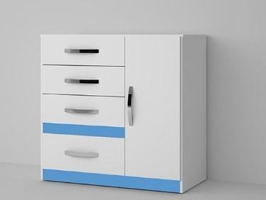 cômoda vn com 4 gavetas porta sapateira opção 4 cores flex
