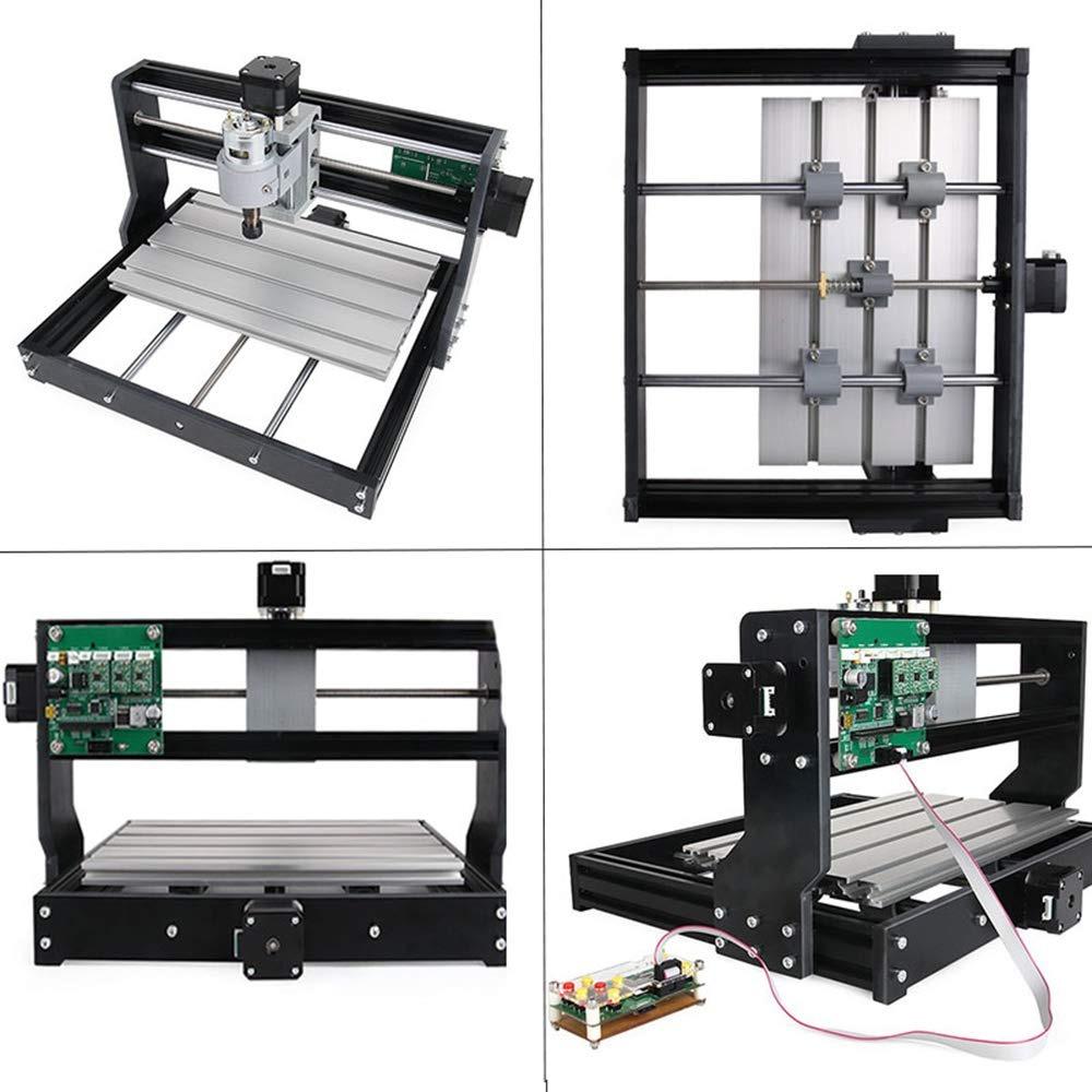 /área de trabajo 300 x 180 x 45 mm Yofuly de 3 ejes PCB m/áquina de fresado de PVC con barra de extensi/ón M/áquina CNC 3018 Pro-M GRBL Control DIY CNC con placa protegida