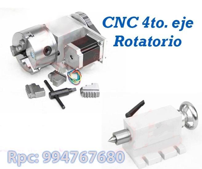 Cnc Rotatorio Cuarto Eje Router - U$S 780,00 en Mercado Libre