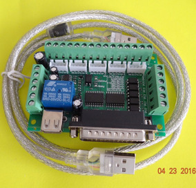 Cnc Router Breakout Board 5 Axis + Cable Lpt on