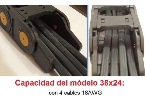 cnc router cadena porta cables - valor metro