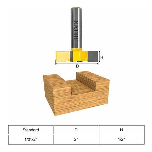 Broca para enrutador CNC Spoilboard amarillo