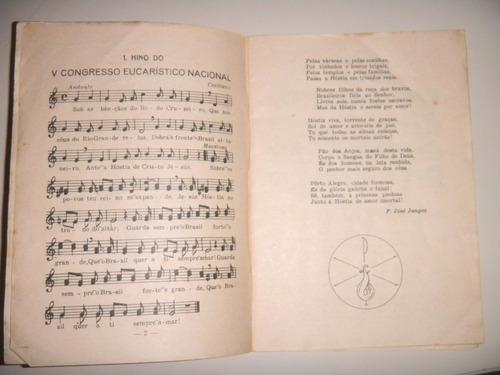 cânticos para o vº congresso eucarístico nacional - 1948
