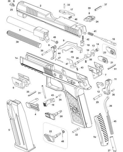 cão da pistola air soft pt 24/7 spring (frete fixo r$ 19,90)