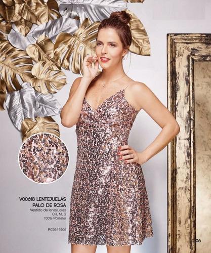 co206- ropa mujer vestido fiesta formal tirantes lentejuela