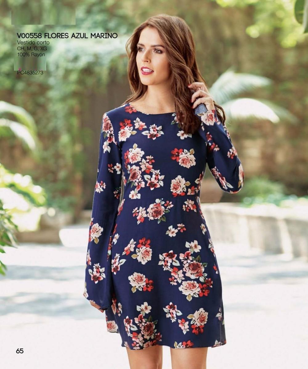 78ae347104 Co65- Envio Gratis+ Vestido Corto Flores Manga Larga -   649.00 en ...