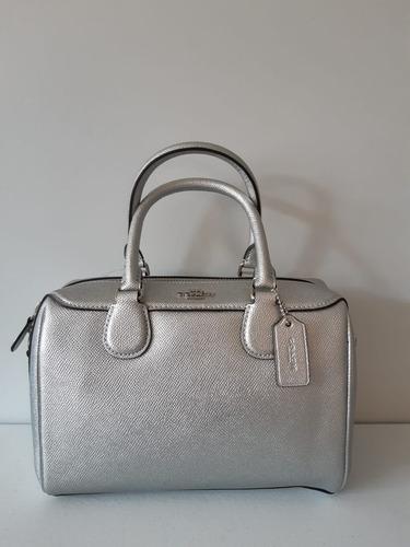coach bolsa mini bennett silver f39706 100% original