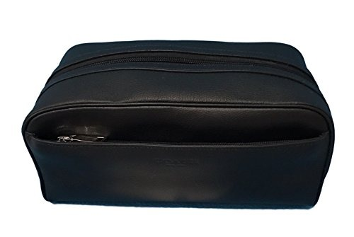Coach Leather Travel Dopp Kit Toiletries Bag In Black 58542