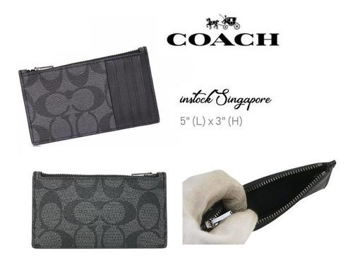 coach monedero con tarjetero hombre f32256 100% original