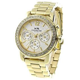 96e5d70c641c Coach Mujer Reloj Análogo Clásico Mujer Color Oro