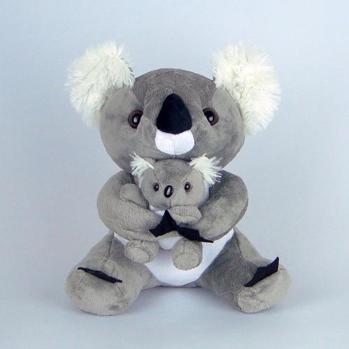 coala de pelúcia - mamãe e filhote 26cm - lindos!!!