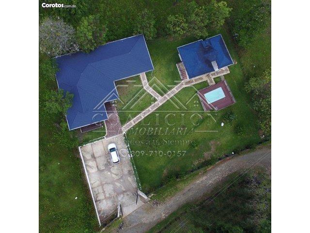 coalición vende villa # 17 en jarabacoa con jacuzzi piscina-