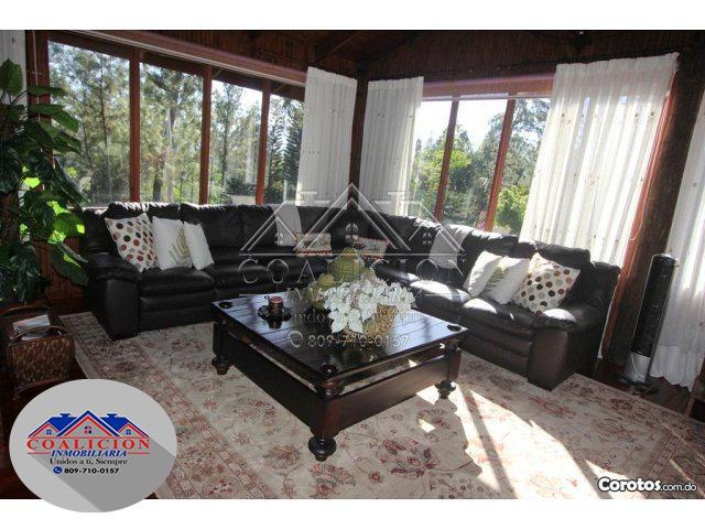 coalición vende villa # 18 jarabacoa piscina, jacuzzi 7 hab-