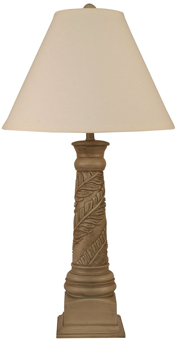 Coast lamp antique grey banana leaf table lamp 613185 en leaf table lamp cargando zoom aloadofball