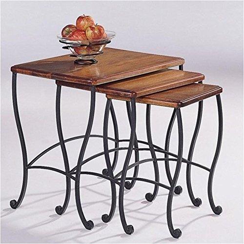 coaster mesas nido, marco negro base de hierro con rústico