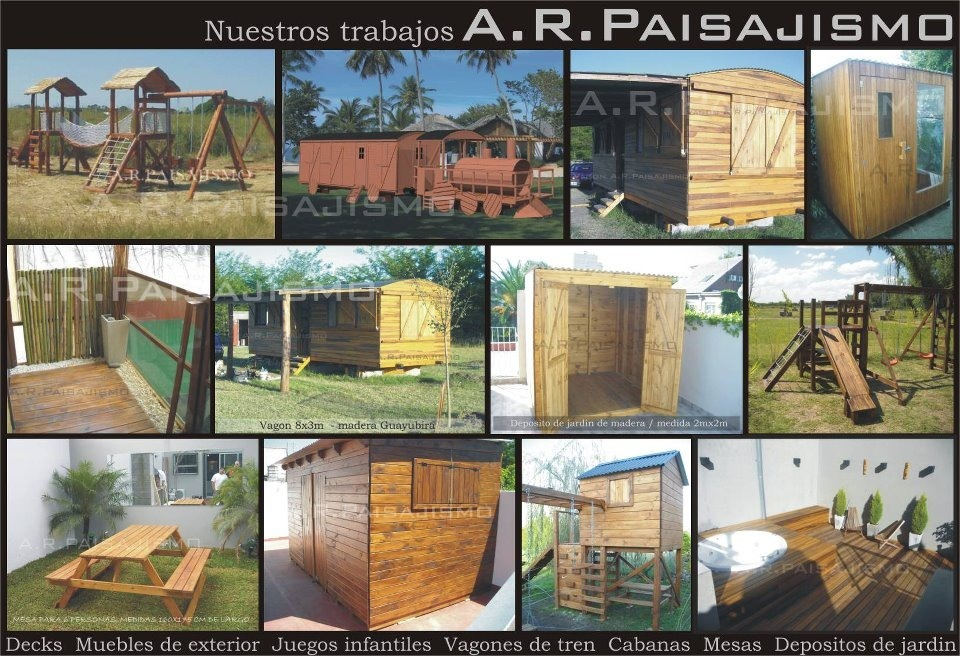 Cobertizo Deposito Galpon De Madera Tipo Mini Cabaña 4x2.6m ...