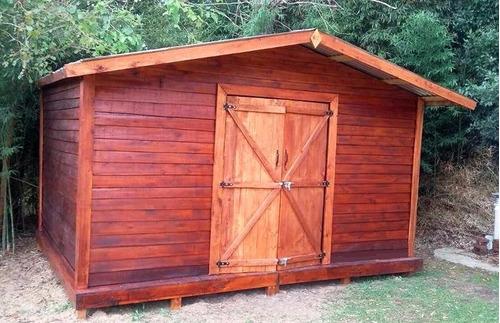 Cobertizos de madera para jardin techo de varillas de for Cobertizos para jardin
