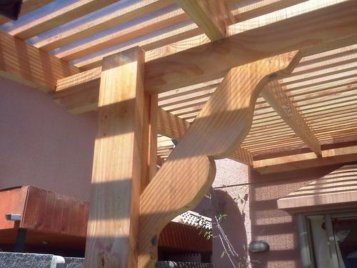 cobertizos pergolas terrazas en madera
