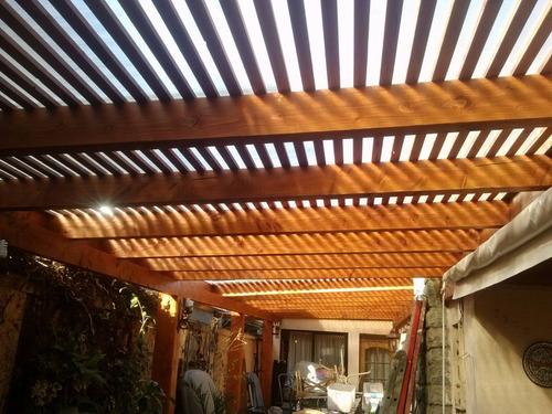 cobertizos ,pergolas y terrazas madera,,,alta calidad...