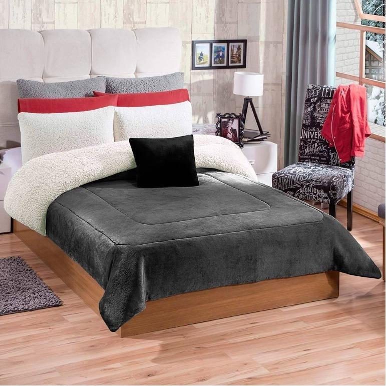 Cobertor Argos Gris King Size Borrega Marca Concord - $ 849.00 en ...
