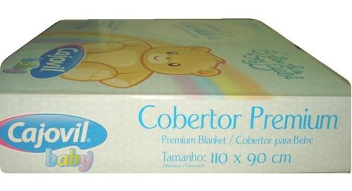 cobertor bebê premium azul-bebê cajovil ref:796