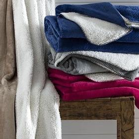 Cobertor Casal Microfibra  Efeito Pele De Carneiro - Denver