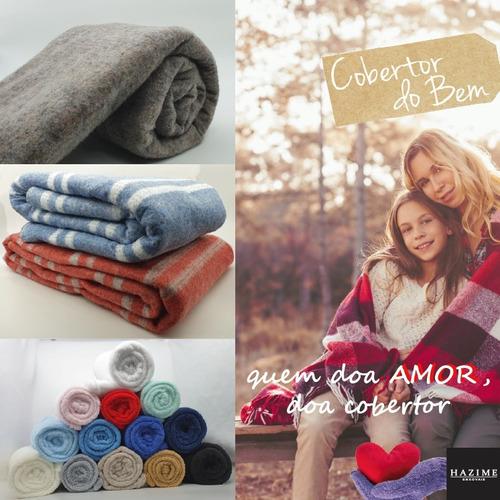 cobertor casal popular - doacao - manta - direto na fabrica