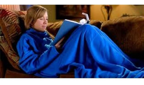 cobertor com magas manta soft adulto snuggie grande