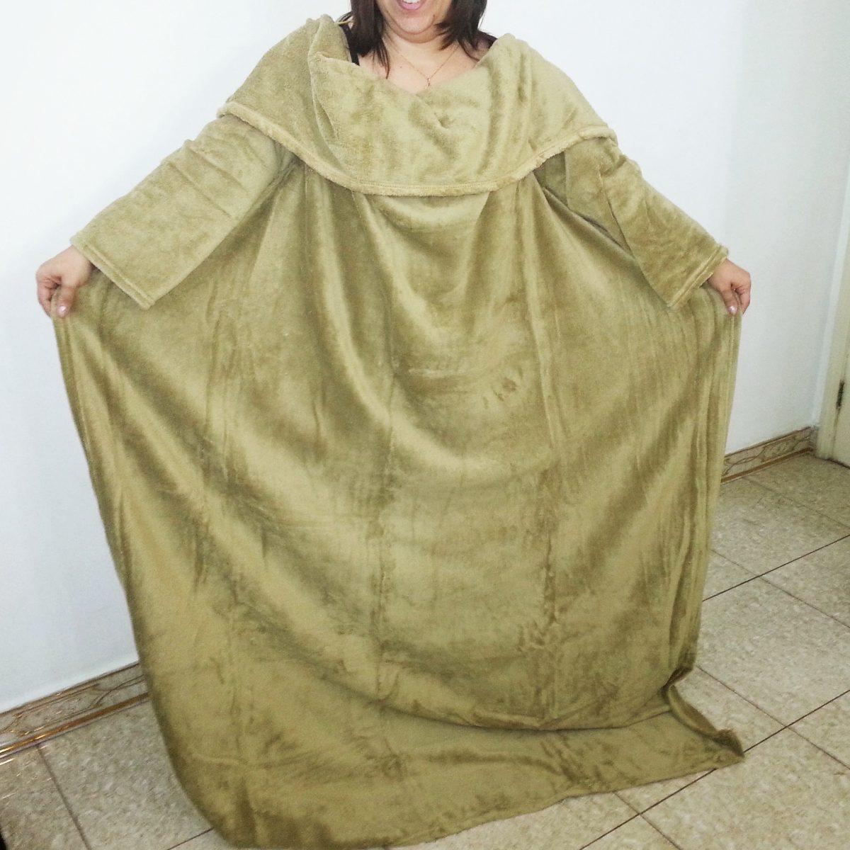 Cobertor com mangas plush edredom manta inverno frio r - Cobertor para sofa ...