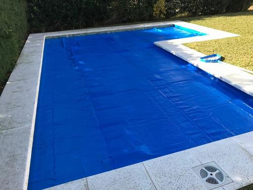 cobertor cubre pileta manta térmica tricapa lona fibra