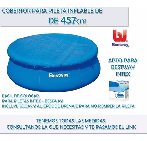 cobertor cubrepileta bestway 457 pileta fast set redonda