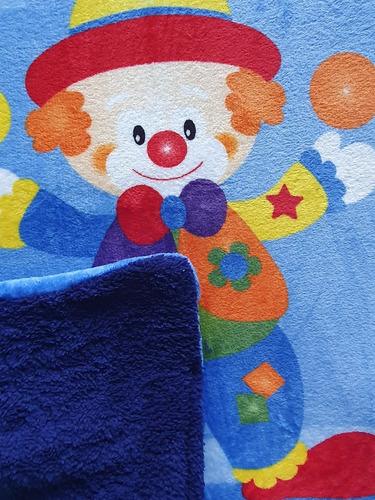cobertor cunero con borrega 110 x 100 cm, modelos a elegir