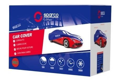 cobertor de auto azul talla m poliester sparco - vc