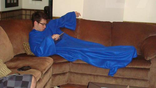 cobertor de tv com mangas - 1,50x1,80m - o maior do mercado
