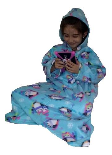 cobertor de tv com mangas com capuz - infantil  - lançamento