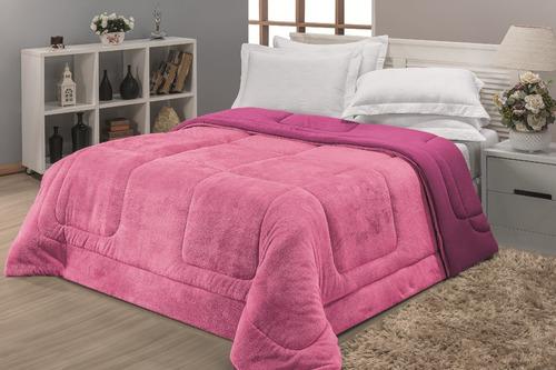 cobertor + edredom 2 em 1 malha felpuda casal queen size