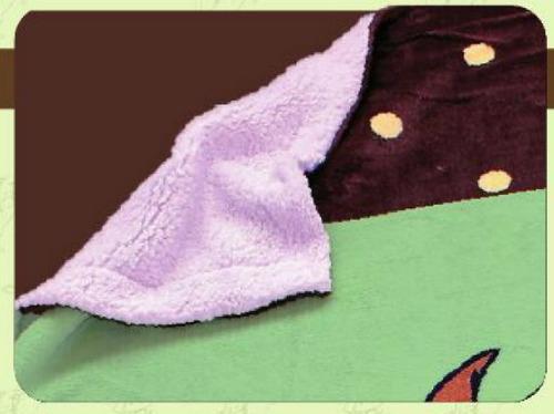cobertor edredon forrado con borrega koala suave niño niña