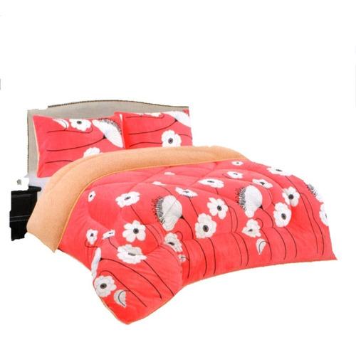cobertor, edredón polar 2plz (3piezas)
