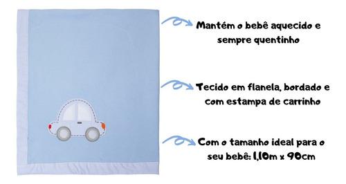 cobertor infantil macio soft manta de bebê 1,10mx90cm - papi