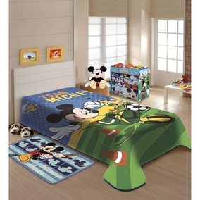 74a9e41fca Cobertor Solteiro Mickey no Mercado Livre Brasil